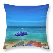 Relax On The Beach Throw Pillow