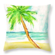 Relax Palm Throw Pillow