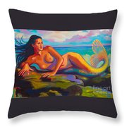 Relaxation Is Enlightenment Throw Pillow