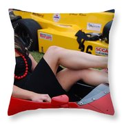 Relaxed Racer Throw Pillow