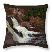 Relaxing Autumn Falls Throw Pillow