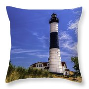 Relaxing By Big Sable Light Throw Pillow