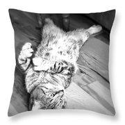 Relaxing Cat Throw Pillow