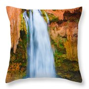 Relaxing Falls Throw Pillow