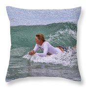Relaxing In The Surf Throw Pillow
