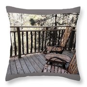 Relaxing In The Woods Throw Pillow