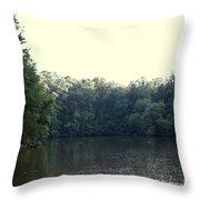 Relaxing Lake Landscape Throw Pillow