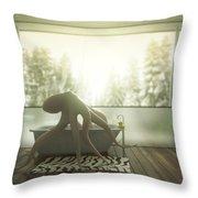 Relaxing Octopus...  Throw Pillow