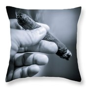 Relaxing With A Cigar Throw Pillow