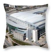 Reliant Stadium In Houston Throw Pillow