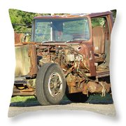 Relic Behind The Gas Station Throw Pillow