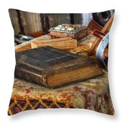 Relics Of A Lighthouse Keeper Throw Pillow