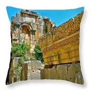 Relief In The Coutyard In Myra-turkey Throw Pillow
