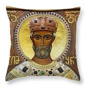 Religious Art Inside The Tsminda Sameba Cathedral Throw Pillow by Robert Preston