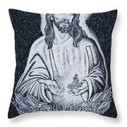 Religious Icons In Spanish Cemetery Throw Pillow