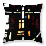Religious Symbols In Glass Throw Pillow