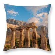 Remains Of Apollo Temple Throw Pillow
