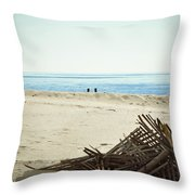 Remains Of Hurricane Sandy Throw Pillow