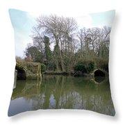 Remains Of Old Bridge Warwick Throw Pillow