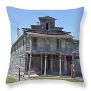 Remains Of The Old Inn Throw Pillow