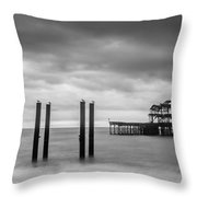 Remains Of The West Pier In Brighton Throw Pillow