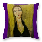 Sophisticated Lady With The Dreamy Eyes Throw Pillow