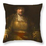 Rembrandt Self Portrait Throw Pillow