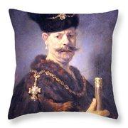 Rembrandt's A Polish Nobleman Throw Pillow