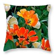 Rembrant's Garden Throw Pillow