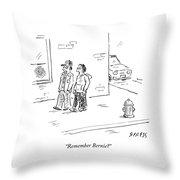 Remember Bernie Throw Pillow