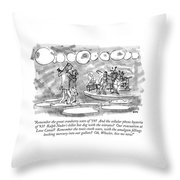 Remember The Great Cranberry Scare Of '59? Throw Pillow