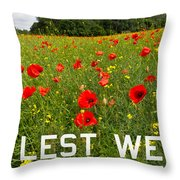 Remember Them Poster Version Throw Pillow