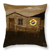 Remember When - Old Pepsi Sign Throw Pillow