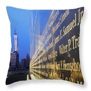 Remembering 9/11-hope And Despair Throw Pillow