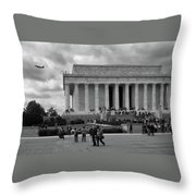 Remembering Abe  Throw Pillow