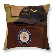 Remembering De-166 Uss Baron Throw Pillow