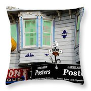 Remembering Haight Ashbury Throw Pillow