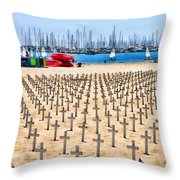 Remembering Heros By Diana Sainz Throw Pillow
