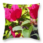 Remembering Magenta Throw Pillow