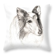 Remembering Maggie - A Tribute To A Collie Throw Pillow