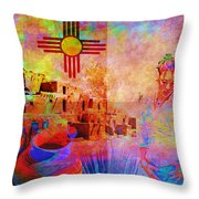 Remembering New Mexico Throw Pillow by M Montoya Alicea