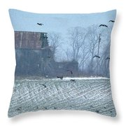 Remembering The Farm Throw Pillow