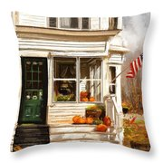 Remembering When- Porches Art Throw Pillow