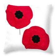 Remembrance Day Poppies Throw Pillow