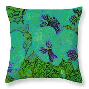 Remembrance Flowers Throw Pillow