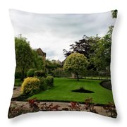 Remembrance Park - In Bakewell Town Peak District - England Throw Pillow