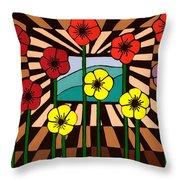 Remembrance Poppy Throw Pillow