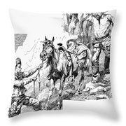 Remington Cowboys, 1887 Throw Pillow