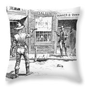 Remington: Duel Throw Pillow by Granger
