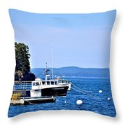 Remington Lobster Boat Throw Pillow